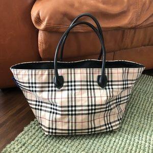 Burberry Blue Label nylon carryall tote handbag